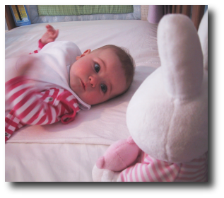 Finlay menaced by giant rabbit