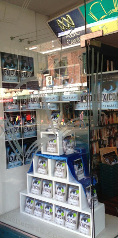 Lots of copies of Lexicon on display at Better Read Than Dead, 256 King St, Newtown NSW, Australia